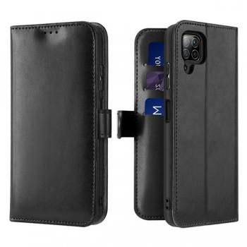 Dux Ducis Kado Δερμάτινη Μαγνητική Θήκη Πορτοφόλι με Βάση Στήριξης για Huawei P40 lite / Nova 6 SE / Nova 7i - Μαύρη