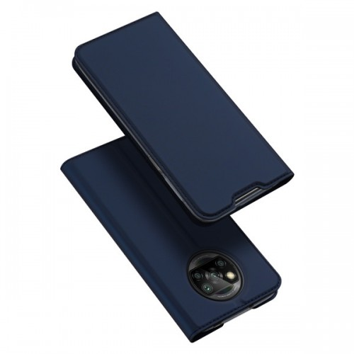 Dux Ducis Skin Pro Δερμάτινη Μαγνητική Θήκη Πορτοφόλι με Βάση Στήριξης για Xiaomi Poco X3 - Μπλε