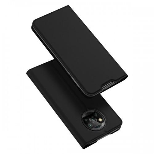 Dux Ducis Skin Pro Δερμάτινη Μαγνητική Θήκη Πορτοφόλι με Βάση Στήριξης για Xiaomi Poco X3 - Μαύρη