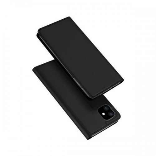 Dux Ducis Skin Pro Δερμάτινη Μαγνητική Θήκη Πορτοφόλι με Βάση Στήριξης για iPhone 11 - Μαύρη