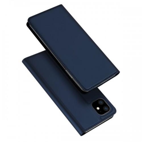 Dux Ducis Skin Pro Δερμάτινη Μαγνητική Θήκη Πορτοφόλι με Βάση Στήριξης για iPhone 11 - Μπλε