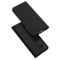 Dux Ducis Skin Pro Δερμάτινη Μαγνητική Θήκη Πορτοφόλι με Βάση Στήριξης για Huawei P40 lite / Nova 6 SE / Nova 7i - Μαύρη