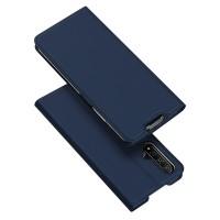 Dux Ducis Skin Pro Δερμάτινη Μαγνητική Θήκη Πορτοφόλι με Βάση Στήριξης για Huawei Honor 20/20s - Μπλε