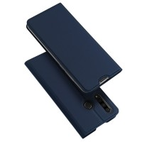 Dux Ducis Skin Pro Δερμάτινη Μαγνητική Θήκη Πορτοφόλι με Βάση Στήριξης για Huawei P30 lite - Μπλε