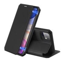 Dux Ducis Skin X Δερμάτινη Μαγνητική Θήκη Πορτοφόλι με Βάση Στήριξης για iPhone 11 - Μαύρη