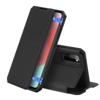 Dux Ducis Skin X Δερμάτινη Μαγνητική Θήκη Πορτοφόλι με Βάση Στήριξης για Samsung A41 - Μαύρη