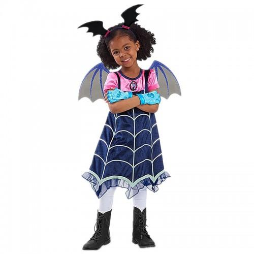 Παιδική Στολή Βαμπιρίνα (Φόρεμα, Στέμμα, Φτερά) για Halloween/Απόκριες 11411