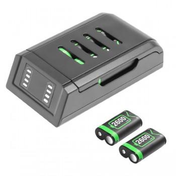 JYS X125 Φορτιστής και 2 Μπαταρίες 2600mAH για Xbox Series X/Xbox One