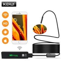 Kerui Αδιάβροχη ενδοσκοπική κάμερα με Wifi 2m για Android και iOS 992021 (Μαλακό/Σκληρό καλώδιο)