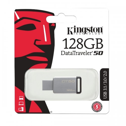 Kingston DataTraveler 50 USB 3.1 Drive 128GB | DT50/128GB