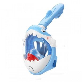 Thenice KF-3  Παιδική Μάσκα Θαλάσσης Καρχαριάκι (Baby Shark) Full Face Snorkel Mask (XS/S) (Mπλε)