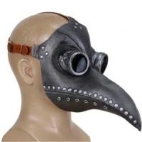 Μάσκα Μαύρου Θανάτου Γιατρού Πανούκλας Μαύρο/Ασημί OEM-061020