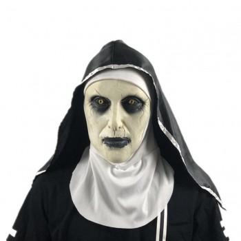 Μάσκα The Nun Καλόγρια Με Μαντήλι για Απόκριες/Halloween/Cosplay 38744