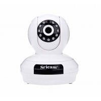 Sricam SP019 Wifi/IP Camera (Ρομποτική/Νυχτερινή Λήψη/SD)(Λευκή)