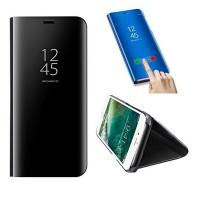OEM Clear View Book Διαφανές Μαύρο (Xiaomi Mi 8 lite)