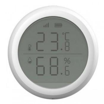 MOES ZB-ZTH Έξυπνο WiFi Θερμόμετρο-Υγρασιόμετρο Χώρου με οθόνη LCD (Tuya/ZigBee)