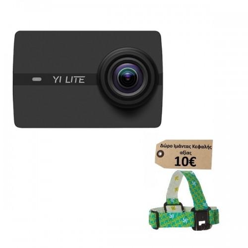 Yi Lite (16MP/4K/2'' LCD/60fps/mSD) - Μαύρη  (Δώρο Ιμάντας Κεφαλής Yi αξίας 10€)