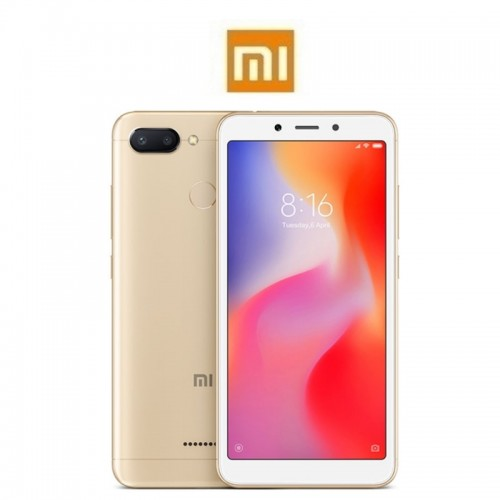 """XIAOMI Redmi 6 Global (5.45""""/4G/8πύρηνο/4GB-64GB) Χρυσό (Δώρο Ακουστικά)"""