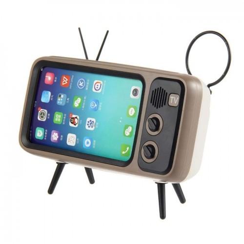Peterhot PTH-800 Ασύρματο Ηχείο Bluetooth και Βάση Κινητού Τύπου Vintage TV (3W)