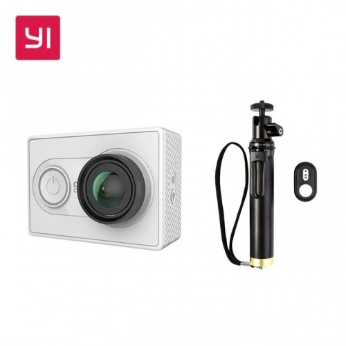 Yi EU Edition Ambarella A7LS Action Camera με Selfiestick και Bluetooth Remote Controller (Λευκή)