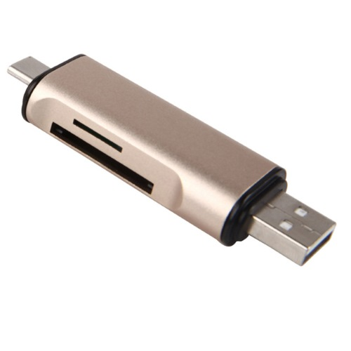 3-σε-1 Card Reader OTG SD-MicroSD (USB/Type-C/microUSB) OEM