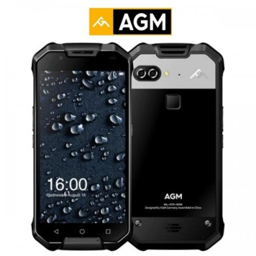 AGM X2 (5.5''/4G/8πύρηνο/Αδιάβροχο IP68/Rugged/6-128GB)(Μαύρο)