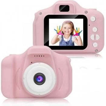 HD Μίνι Ψηφιακή Παιδική Φωτογραφική Μηχανή (Ροζ) 180321