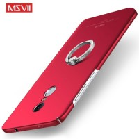 MSVII Ματ Backcover Θήκη (Xiaomi Redmi Note 4X) (Snapdragon) (Red-Ring)