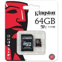 Micro SD Class 10 Kingston 64GB+Adapter SDC10