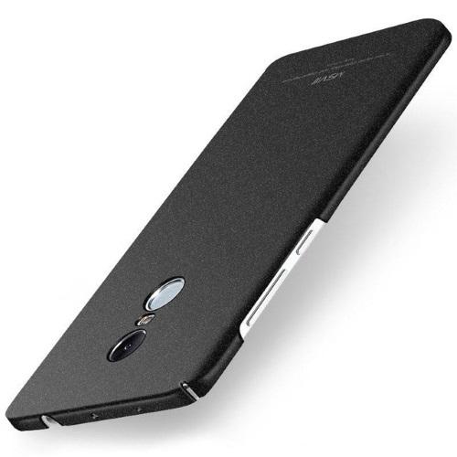MSVII Ματ Backcover Θήκη (Xiaomi Redmi Note 4) (Mediatek) (Ζαγρέ Black)