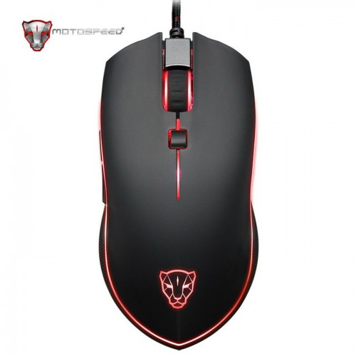 Motospeed V40 RGB Backlight Gaming Mouse (Electron-Optical Gaming/Wired/400dpi/6 Πλήκτρα) (BLACK)