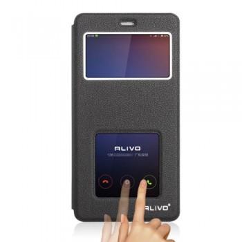 Alivo Flip Stander PU Window Θήκη (Xiaomi Redmi 4A) (Μαύρη)