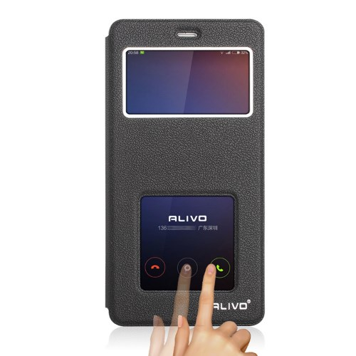 Alivo Flip Stander PU Window Θήκη (Xiaomi Redmi 4A) (Μαύρη)