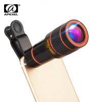 APEXEL APL-HS12X Φωτογραφικός Τηλεφακός 12x Zoom για όλα τα κινητά τηλέφωνα και Smartphone