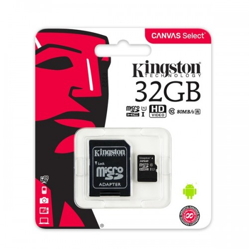 Micro SD Class 10 Kingston 32GB+Adapter SDC10 Canvas Select
