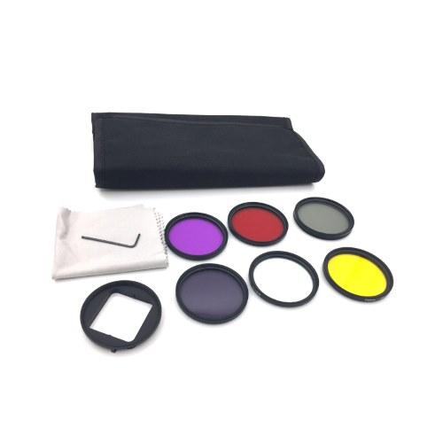 OEM Kit Φίλτρων Φακού για GoPro 4/3+ GP277 52mm(UV CPL ND4 Color Φίλτρο)+Αντάπτορας Τοποθέτησης+Θήκη Μεταφοράς
