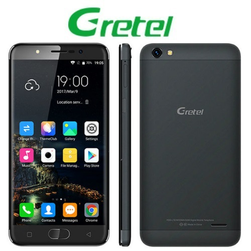 Gretel A9 (5''/4G/4πύρηνο/Fingerprint/2GB-16GB) Μαύρο