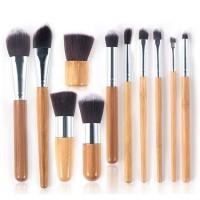 Επαγγελματικό Σετ Πινέλων Μακιγιάζ Bamboo Airbrushed Effect - Make Up Set 11 τμχ