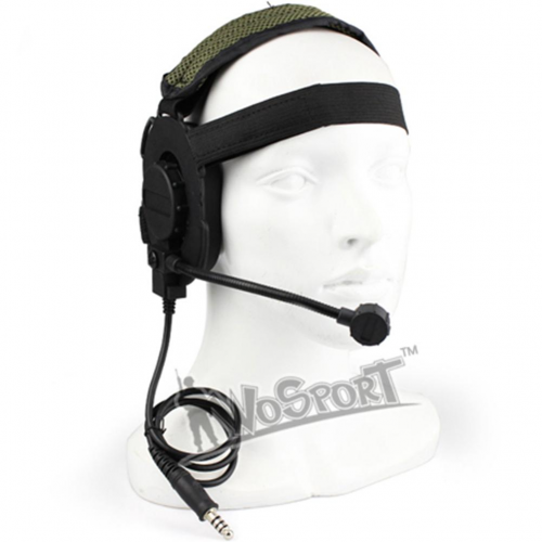 WoSport HD-04 Outdoor Hunting Headset (Jack Nato για intercom) (Μαύρο)