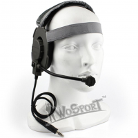 WoSport HD-04 Outdoor Hunting Headset (Jack Nato για intercom) (Γκρι)