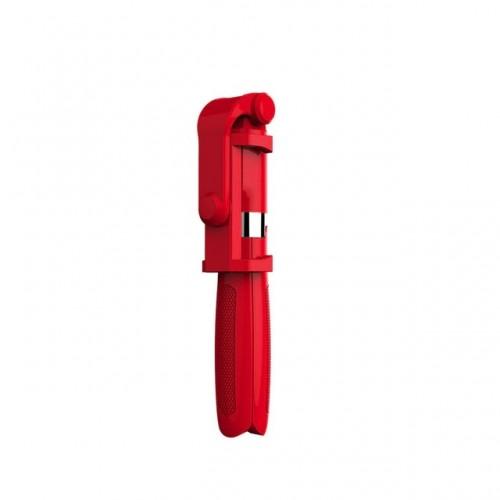 OEM-L01 Πτυσσόμενο Bluetooth Tripod Selfie Stick με Χειριστήριο - Κόκκινο