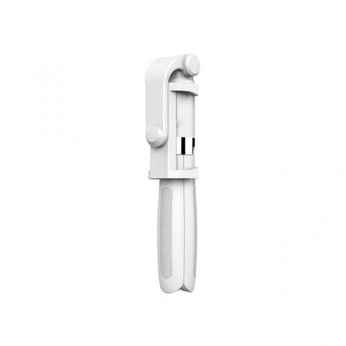 OEM-L01 Πτυσσόμενο Bluetooth Tripod Selfie Stick με Χειριστήριο - Λευκό
