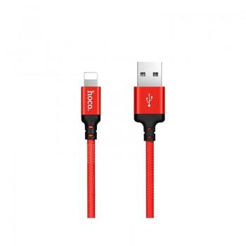 Hoco X14 Καλώδιο Φόρτισης mUSB Braided Speed Charging - Κόκκινο
