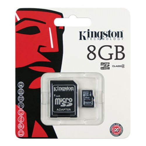 Micro SD Class 4 Kingston 8GB+Adapter