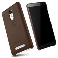 LENUO Music Case II Σκληρή Θήκη Λεπτή με Επένδυση Δέρματος για Xiaomi Redmi Note 3 Pro Special Edition - Καφέ