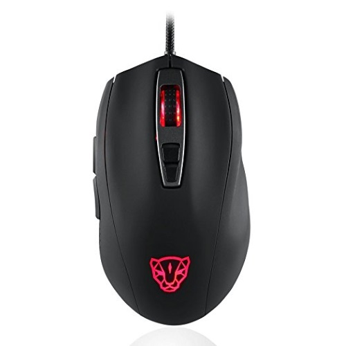 Motospeed V60 Mouse (Optical Gaming/Wired/5000dpi/Omron switches) (Black)