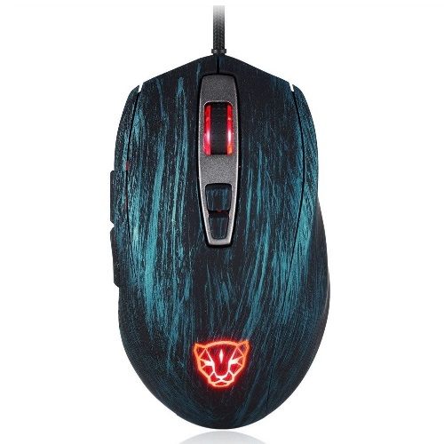 Motospeed V60 Mouse (Optical Gaming/Wired/5000dpi/Omron switches) (Blue)