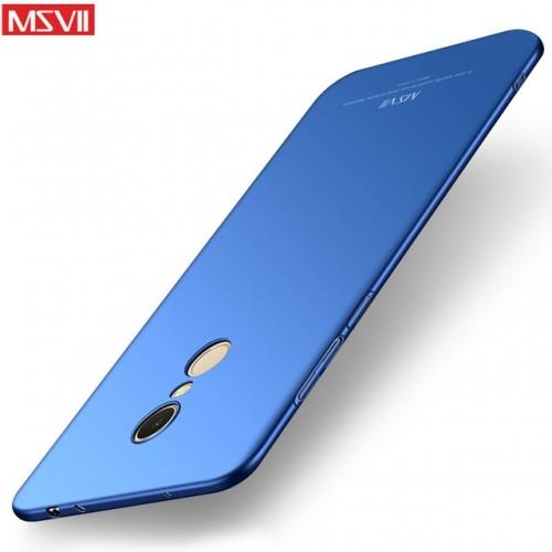 MSVII Ματ Backcover Θήκη (Xiaomi Redmi 5 Plus) (Μπλε)