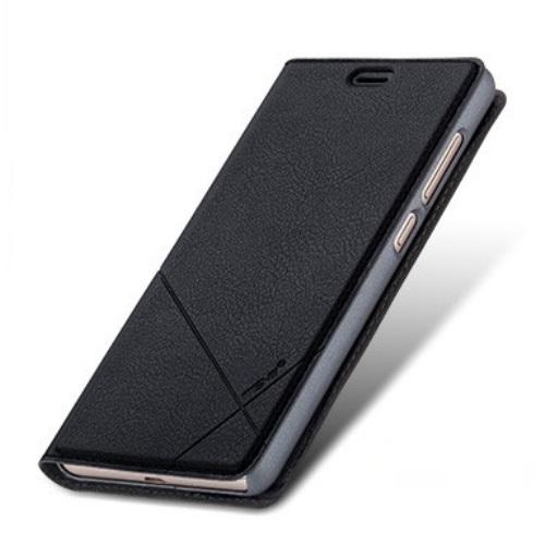 MSVII Leather Wallet Θήκη (Xiaomi Redmi 3S/3 Pro) (Μαύρη)