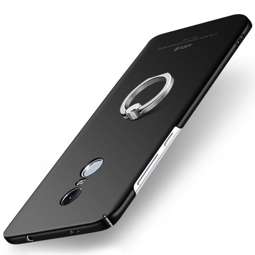 MSVII Ματ Backcover Θήκη (Xiaomi Redmi Note 4X) (Snapdragon) (Black-Ring)
